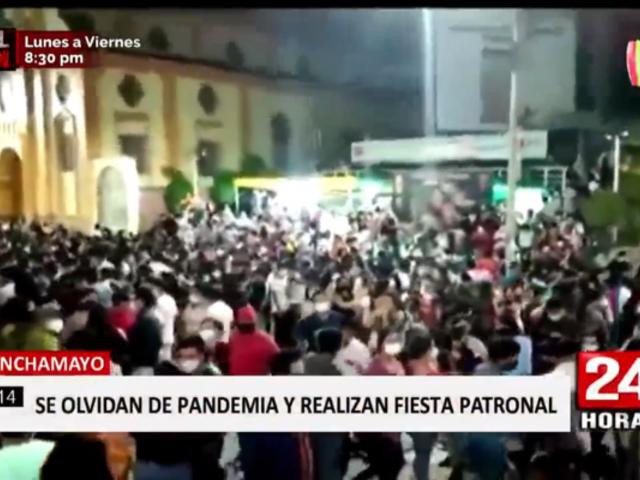Chanchamayo: cientos asisten a fiesta patronal pese a pandemia