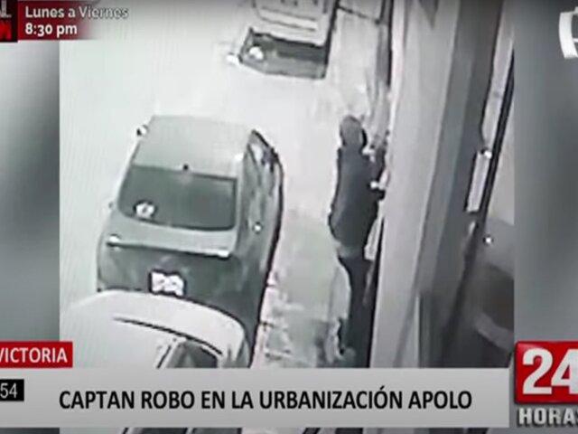 La Victoria: delincuentes trepan paredes en la urbanización Apolo