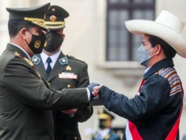 """Pedro Castillo: """"Tenemos unas FF.AA. maduras, constitucionales y correctas en su proceder"""""""