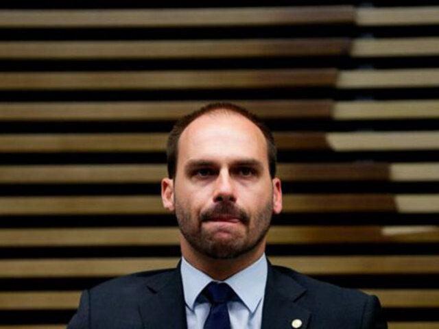 Brasil: hijo de presidente Bolsonaro dio positivo a la Covid-19 tras retornar de la ONU
