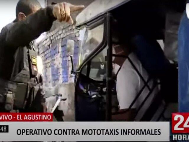 El Agustino: realizan operativo para combatir a mototaxistas informales
