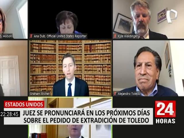 Alejandro Toledo: juez de EEUU decidirá sobre extradición de expresidente en los próximos días