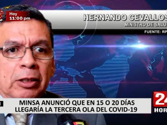 Hernando Cevallos señaló que en en 15 a 20 días llegaría la tercera ola