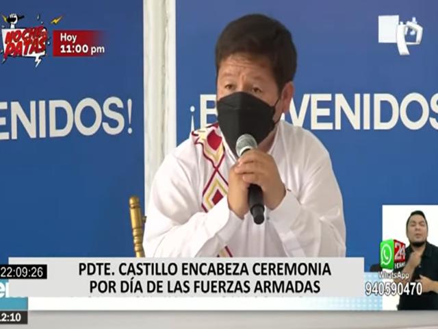 """Guido Bellido en torno a situación en la PCM: """"El gabinete está sólido """""""