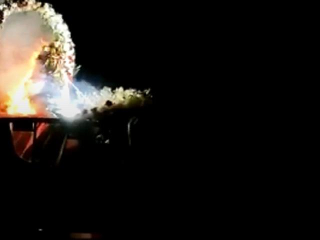 Ica: Virgen de las Mercedes se incendia durante procesión