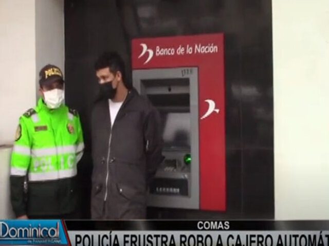 Comas: intervienen extranjeros cuando iban a robar cajero bancario con soplete a gas