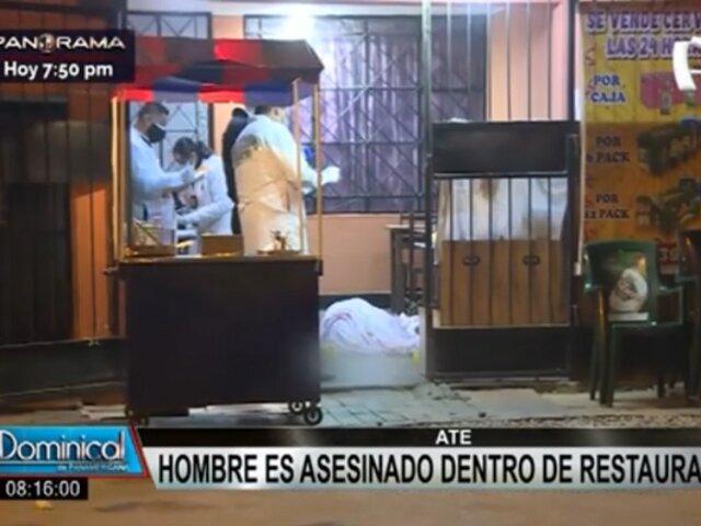 Extranjero es asesinado de más de 15 disparos en restaurante de Ate
