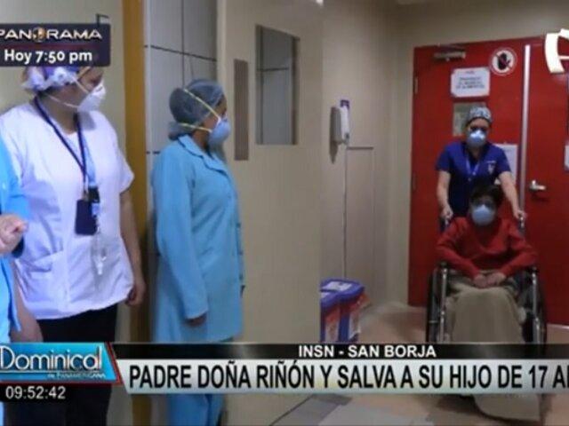 INSN San Borja: padre dona riñón y salva la vida de su hijo de 17 años