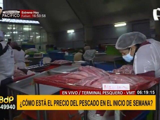 Terminal pesquero de VMT: ¿Así está el precio del pescado en el inicio de semana?