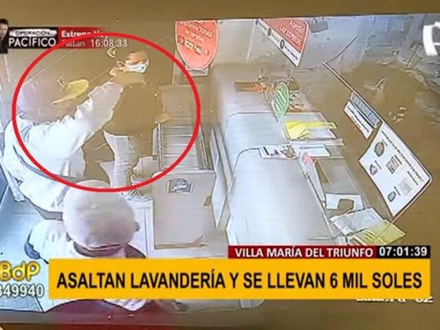 Persecución y balacera en VMT: sujetos fingen ser clientes y roban 6 mil soles de lavandería
