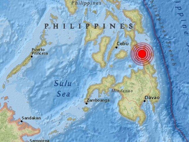 Filipinas: Sismo de magnitud 5.7 sacudió el sur de la capital