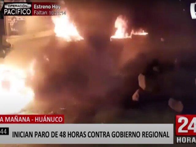 Huánuco: primer día de paro contra gobernador regional