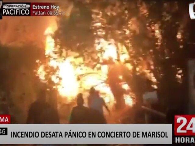 Casma: asistentes de evento musical de Marisol salen despavoridos de local tras incendio