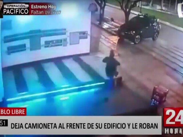 Pueblo Libre: delincuentes armados roban camioneta