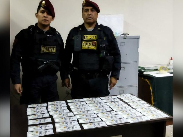 Breña: agentes policiales hallaron 4 mil 700 dólares en la calle
