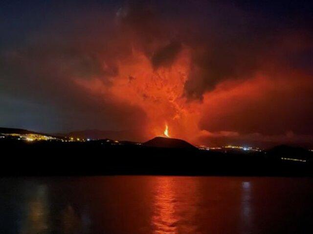 Volcán en la Palma: lava se encontraría cerca del mar en las próximas horas