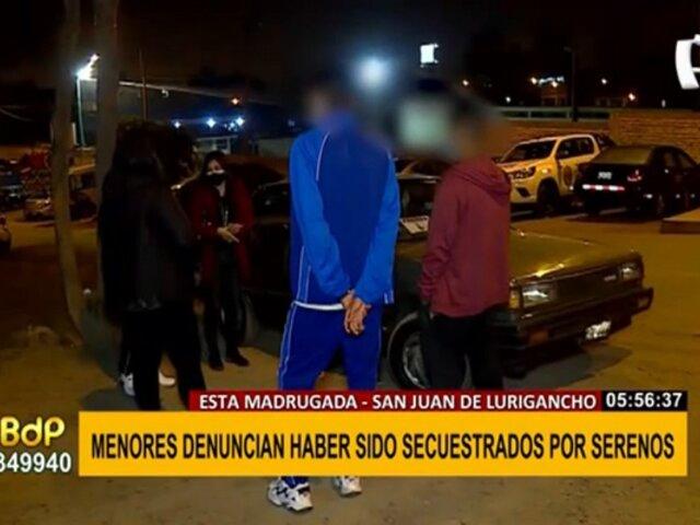 SJL: menores denuncian que fueron secuestrados y golpeados por serenos