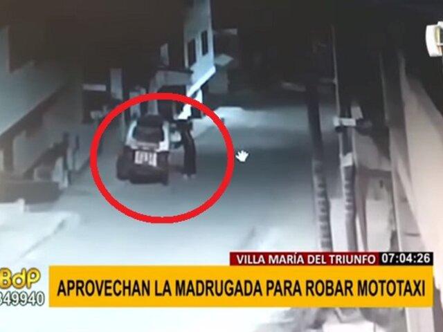 Inseguridad en VMT: ladrones aprovechan la madrugada para robar una mototaxi