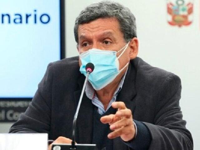 Minsa: conformarán junta de expertos para evaluar la aplicación de una tercera dosis anticovid en el país