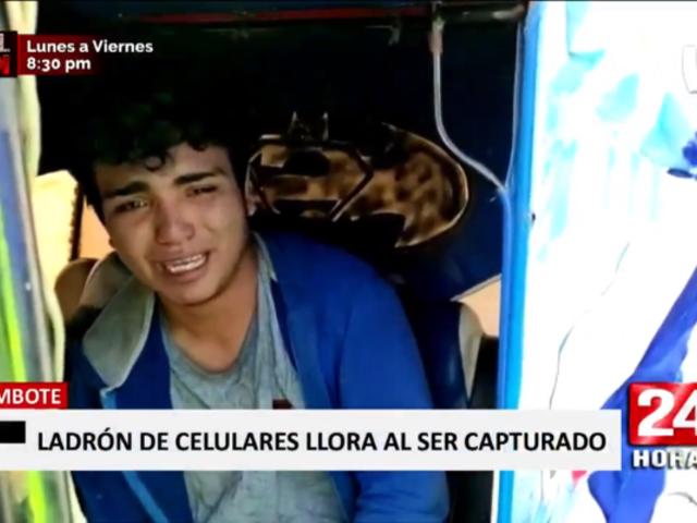 Chimbote: asaltante llora y pide perdón tras ser capturado