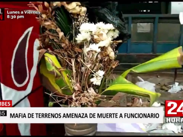 Tumbes: funcionario regional recibe arreglo fúnebre de traficantes de terrenos