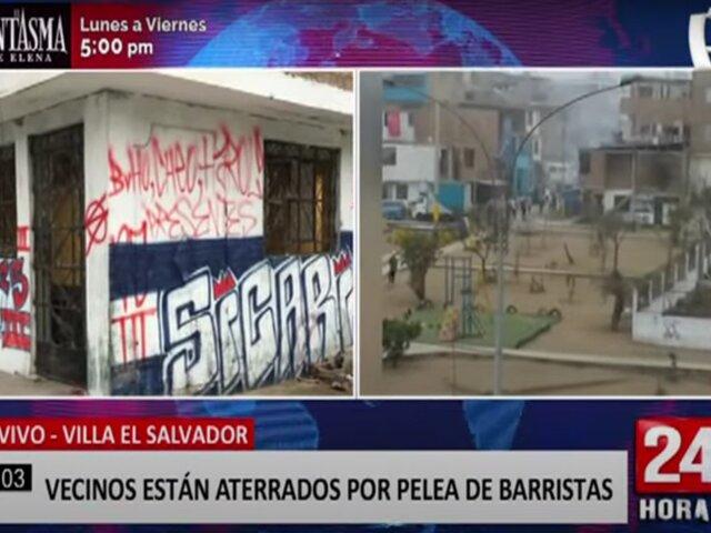 VES: vecinos viven aterrados por constantes peleas protagonizadas por barristas
