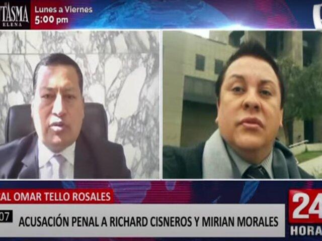 Fiscal Omar Tello detalla la acusación penal contra Miriam Morales y ´Richard Swing'