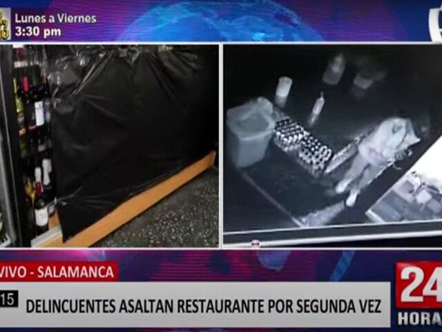 Salamanca: delincuentes roban restaurante y se toman hasta la gaseosa