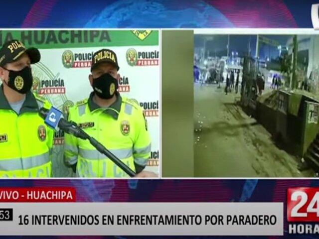 Huachipa: detienen a 16 sujetos por cobro de cupos a transportistas