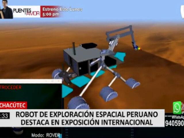 Pachacútec: peruano presentó en Europa vehículo de exploración espacial