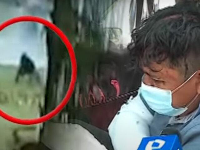 Con bates y hasta con un machete se pelean por el control de un paradero en Huachipa