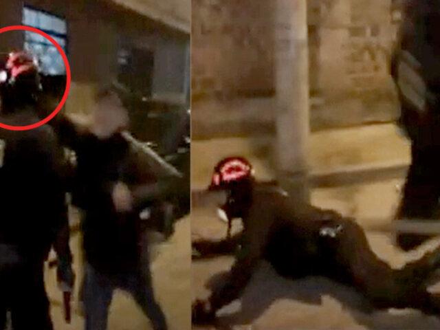 Derriban a policía con violento codazo en el rostro durante operativo
