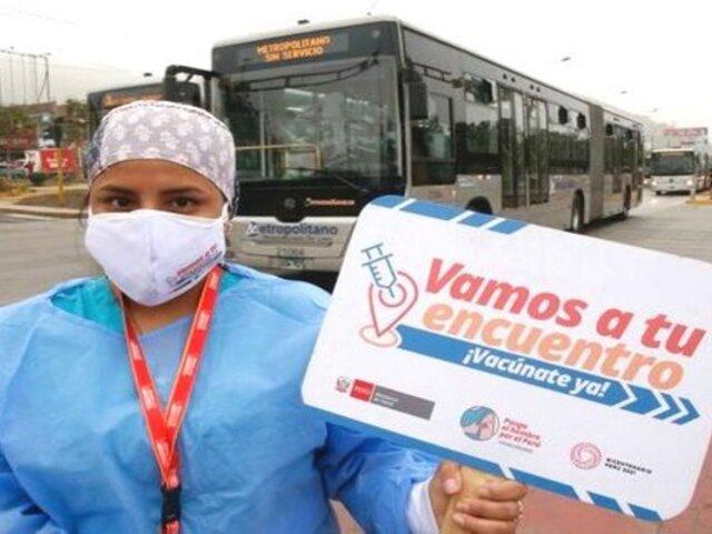 Covid-19: Estación Naranjal del Metropolitano será vacunatorio hasta el 15 de octubre