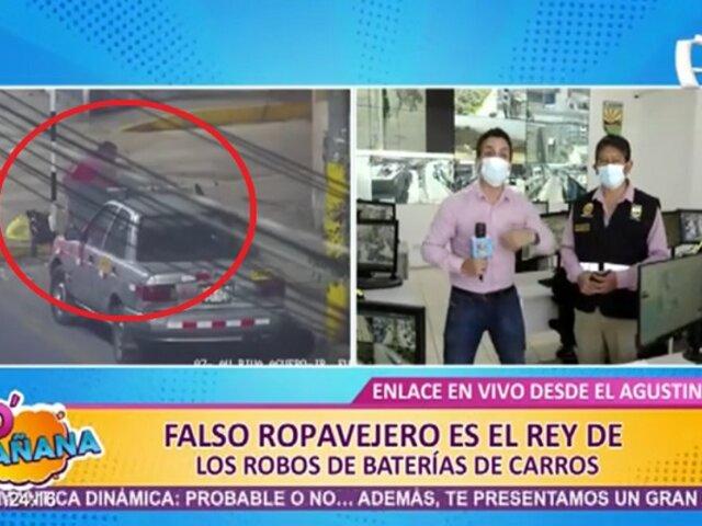 Falso reciclador roba baterías de autos en El Agustino y sigue libre por falta de denuncias