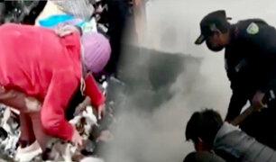 Huancayo: dejan prendido horno a leña y provoca voraz incendio
