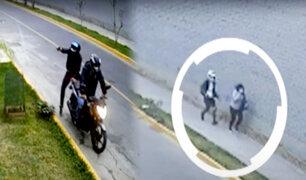 Cercado: par de delincuentes en moto acechan zona industrial en calle Galeano y Mendoza