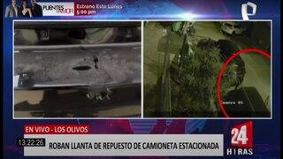 Los Olivos: delincuentes manipulan vehículo y se llevan llanta de repuesto
