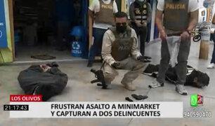 Los Olivos: policía sorprendió a ladrones y frustra asalto a minimarket