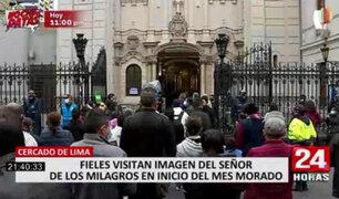 Nazarenas: cientos de fieles visitaron al Señor de los Milagros