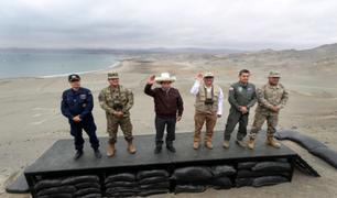 Huacho: presidente Pedro Castillo supervisó desembarco anfibio