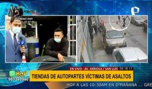 Ola de asaltos en San Luis: tiendas de autopartes se convierten en blanco de la delincuencia