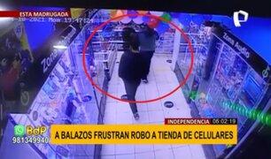 Balacera en Independencia: policía se enfrenta a ladrones y frustra robo a tienda de celulares