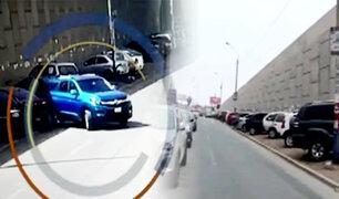 Rímac: denuncian robos de autopartes de sujetos a bordo de una camioneta azul