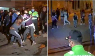 Violentos enfrentamientos entre asistentes a fiesta patronal  se registró en Huancayo