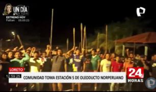 Loreto: nativos awajún toman Estación 5 de Oleoducto Norperuano