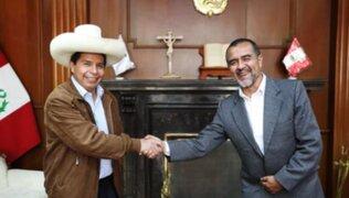 Pedro Castillo tuvo reunión con ministro Iber Maraví