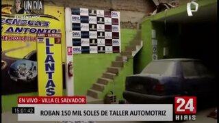 VES: delincuentes roban 150 mil soles de taller automotriz