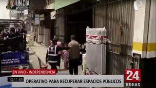 Independencia: realizan operativo para recuperar espacios públicos