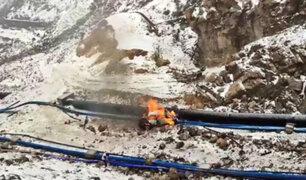 Ticlio: al menos dos muertos y tres heridos deja volcadura e incendio de camioneta