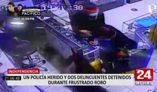 Independencia: policía quedo herido tras frustrar robo en tienda de celulares
